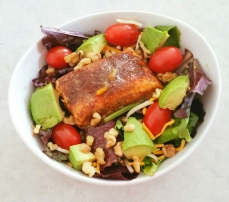 Honey glazed Salmon Salad